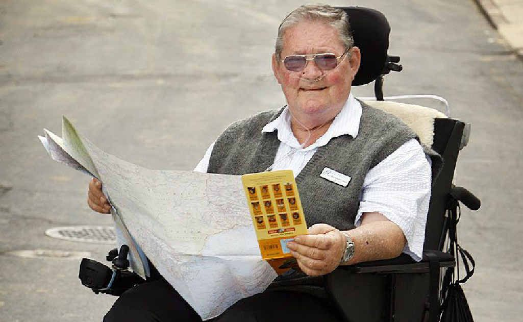 Ray Colbert will be riding from Toowoomba to Brisbane, via Gatton and Ipswich, on his motorised wheelchair to raise awareness of the dangers of inhaling asbestos.