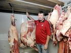 Lismore Premium Meats owners Rob Barnham with the carcass of the champion steer from the North Coast National.