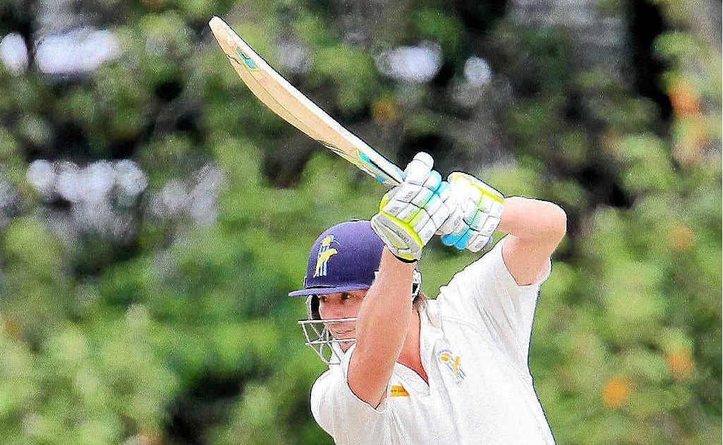 BOLD STROKE: The Dolphins' Michael Nesser hits out against Sunshine Coast.