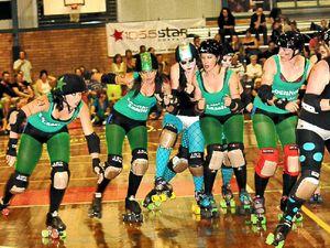 Roller derby skates in