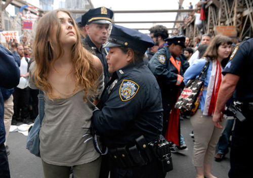Image on blog, Hot Chicks of Occupy Wall Street.
