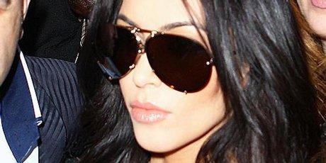 Kim Kardashian arrives in Sydney.