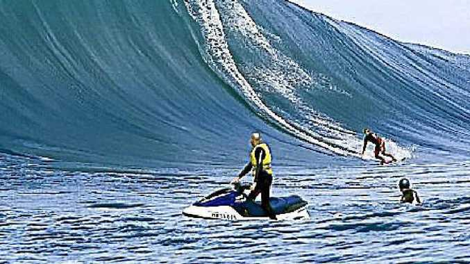Trent Munro surfing a local secret spot in 2006.