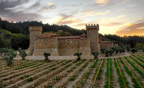 Castello di Amorosa, a beautiful castle in the middle of miles and miles of vineyards,