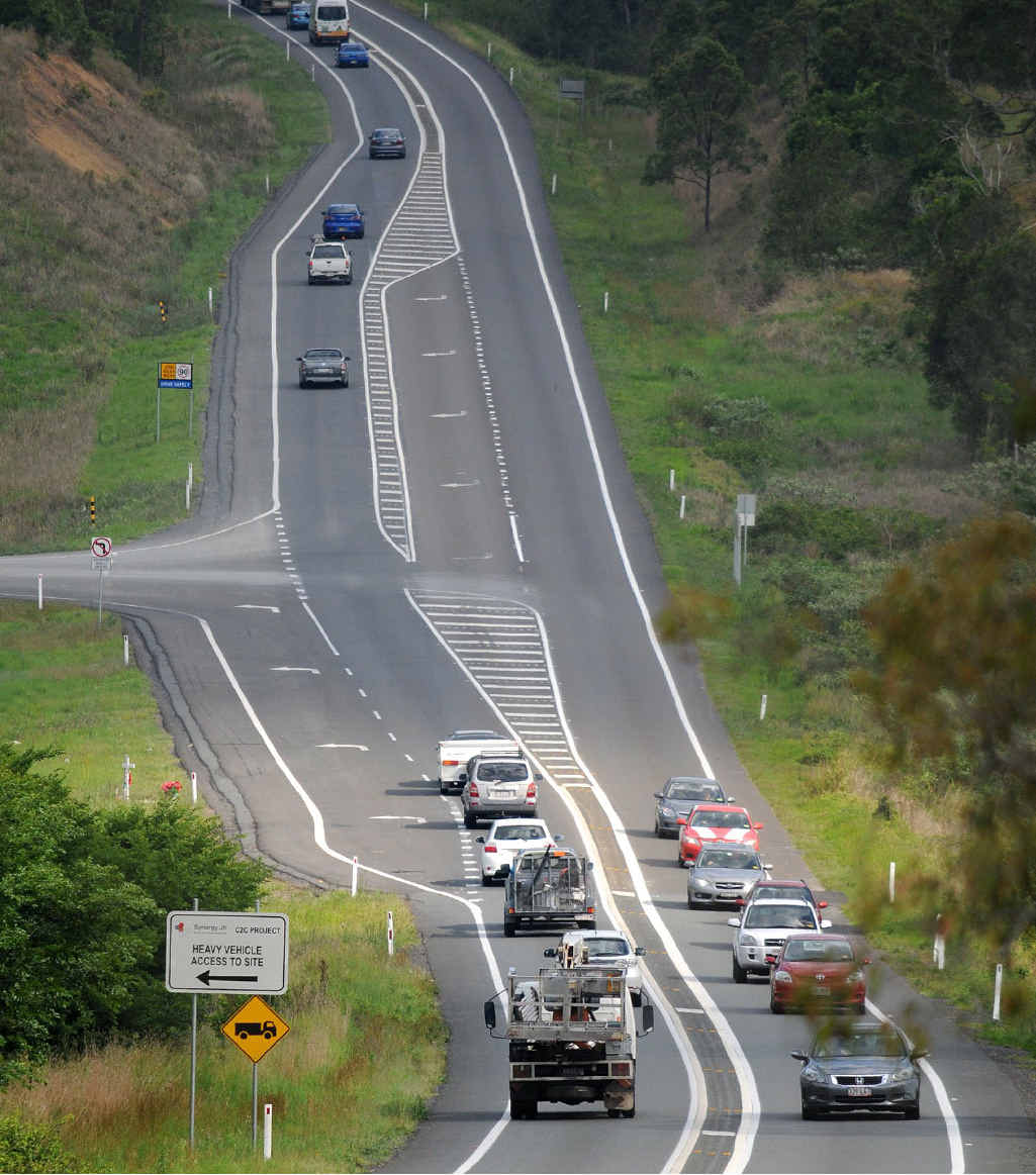 The new high level Mary River bridge at Traveston Crossing is linked to the current Bruce Hwy upgrade section, not due for completion for four years