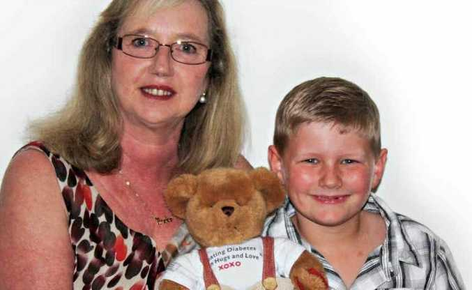 Tineke Dean and her grandson Jacob Lowns.