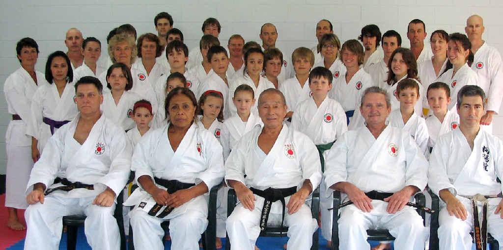 HIGH PRAISE: Sensei Yamazaki with members of the Gympie Karate Academy.