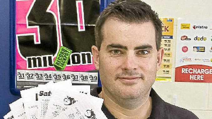 Bryan Denning from Coraki newsagency, one of his customer won $200,000 dollars this week.