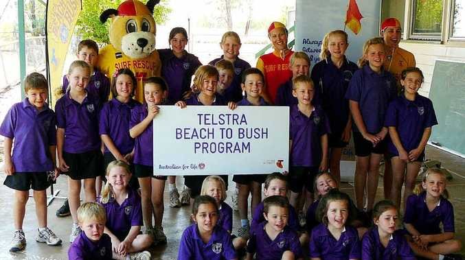 School children from Kilcummin learned valuable lessons about water safety thanks to a visit by some of the state's best lifesavers for the Telstra Beach to Bush program.