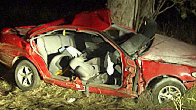 Dalby man Ronald Lankowski, 24, and his two children Kyara, 3, and Jason, 2, were killed when their Holden Commodore slammed into a tree south of Jandowae about 10pm on Friday.