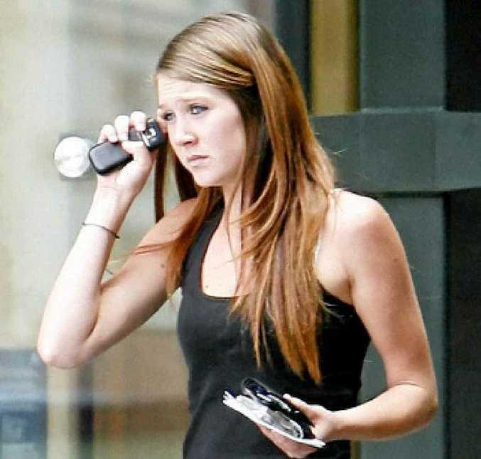 Samantha Karen Bramham, 19, leaves Ipswich Courthouse after being sentenced to 12 months probation.