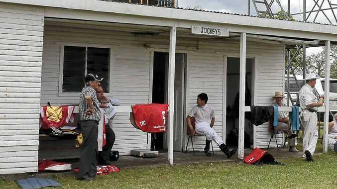 The jockeys' room at the annual Tabulam meeting.