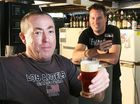 Tony Brown (left) and Liam Ahearn are home brewers who will be attending the homebrew conference in Brisbane this weekend.