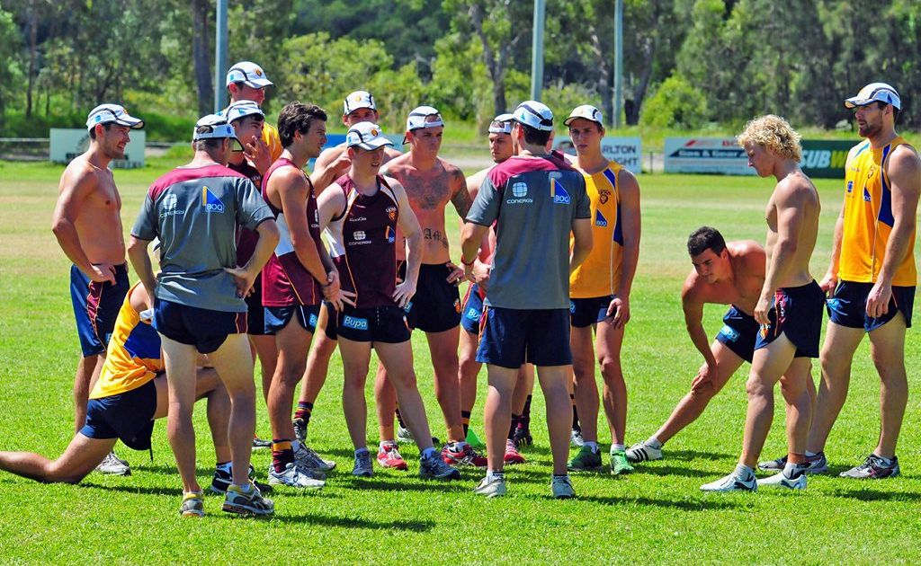 Brisbane Lions during a training session.