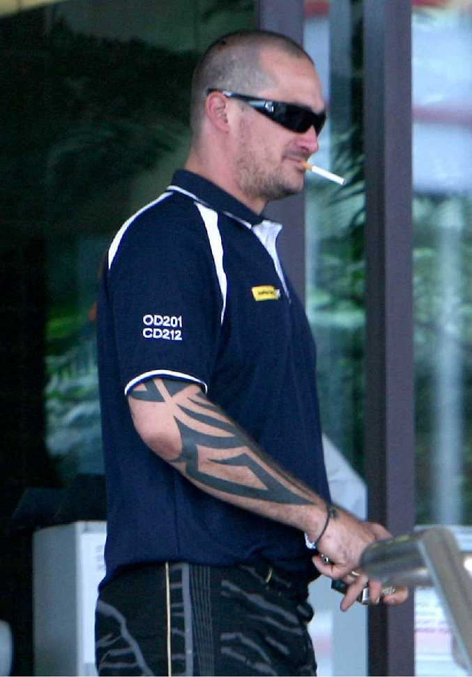 Christopher Dales, outside court during his committal hearing at the Mackay courthouse, has not been released from prison.