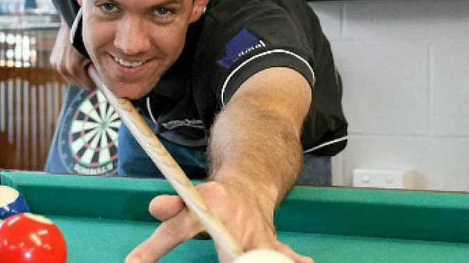 Pool enthusiast Derek Kirstenfeldt prepares himself for a 72-hour record attempt at the longest game of pool.