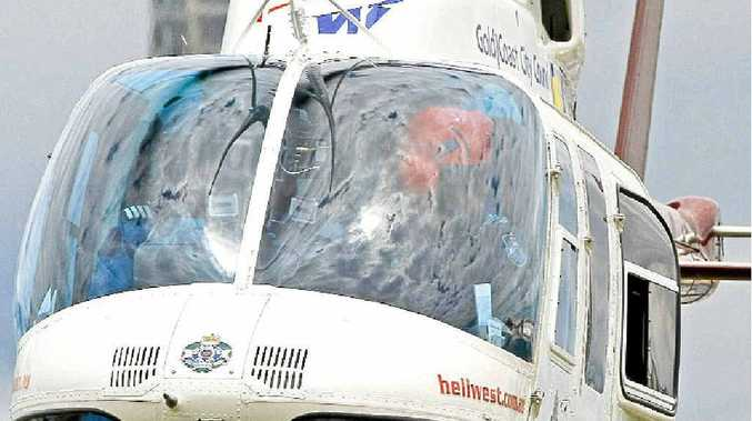 A police helicopter landed at Kawana overnight.