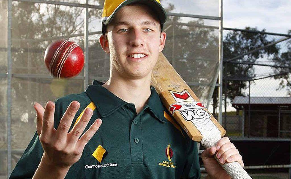 Luke Barrett, 18, has been named in the Queensland Country under 19 cricket team.