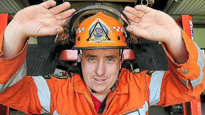SES volunteer Troy McDonald is ready for today's National SES Wear Orange Wednesday.