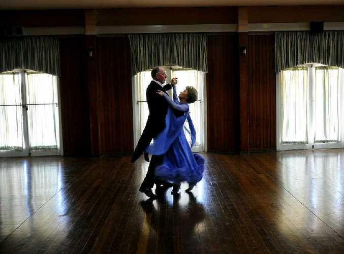 Ballroom dancing devotees John and Nella Devoy of Lismore dance at the Italo Australian Club.