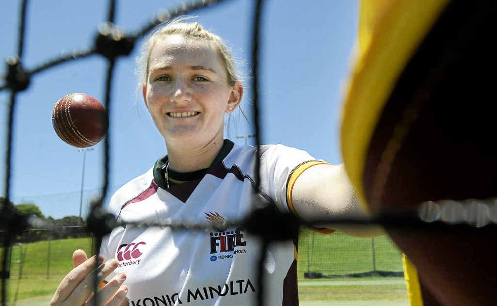 Lismore all-rounder Sammy-Jo Johnson, who will make her debut for the Queensland Fire in Brisbane tomorrow in a Women's National Cricket League Twenty20 match against the ACT Meteors.
