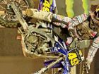Joel Dinsdale flies high in 14-15 years division of the Super X at Campbelltown.