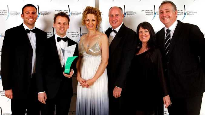 FANTASEA WINS: Fantasea Adventure Cruising took out the best major tour and transport operator at the state tourism awards in Brisbane. Gareth Williams, Thomas Laube, Rowan Campbell, Rob Addis, Josie Filieri and Geoff Pilbeam were there to celebrate the win. Photo Naz Mulla