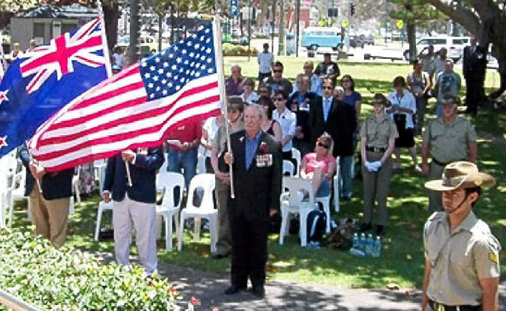 WE WILL REMEMBER: Burleigh RSL's 2010 Remembrance Day ceremony.