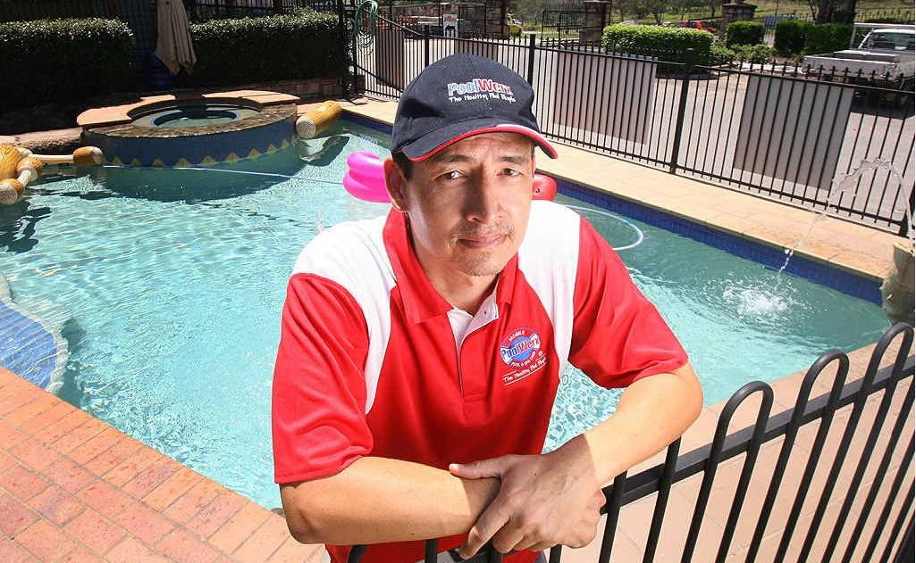 PoolWerx North Tivoli owner Ross McTaggart is helping to promote Royal Life Saving's Keep Watch campaign, which is aimed at preventing child drowning deaths.