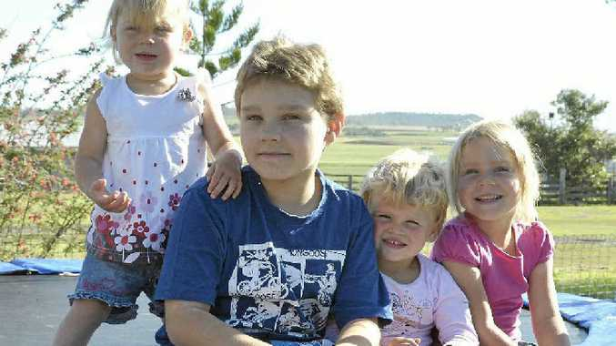 Mitchell Hawks turns 11 today and will be celebrating with sisters (from left) Chloe, Heidi and Maddison.