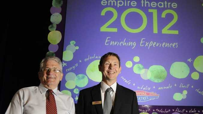 Peter Swannell and the Empire Theatre's acting general manager Kerry Saul are at the launch of the theatre's 2012 Subscription program.
