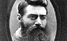 Infamous Australian outlaw Ned Kelly.