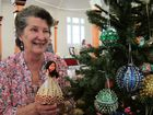 Gail Clarey has her beaded Christmas decorations ready for the big day.