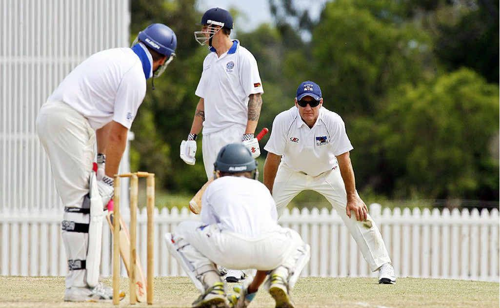 Andy Bichel, pictured fielding for the Laidley Blue Dogs last weekend, will keep his eye on emerging talent in his new role as national selector.