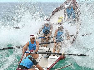 Surf rowers on display in Tugun for series clash
