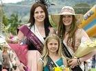 (From left) runner-up Nicole Thomas, junior showgirl Bella Cromwell and Mullumbimby showgirl 2011, Teleah Johnston.