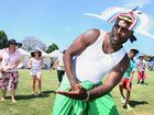 Locals learn traditional dance at the Celebrate Pasifika event held in Goodna on Saturday.
