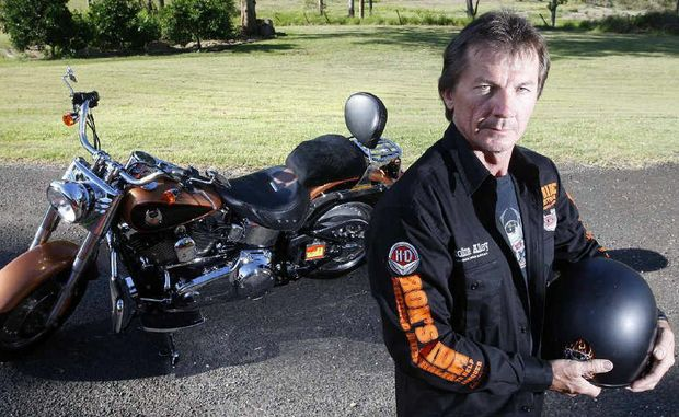 Rob McLaughlin is riding his Harley Davidson around Australia to raise money for cancer research.