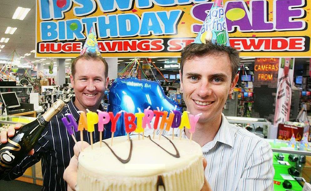 Harvey Norman Ipswich franchisees John Morton and Grant Simpson.