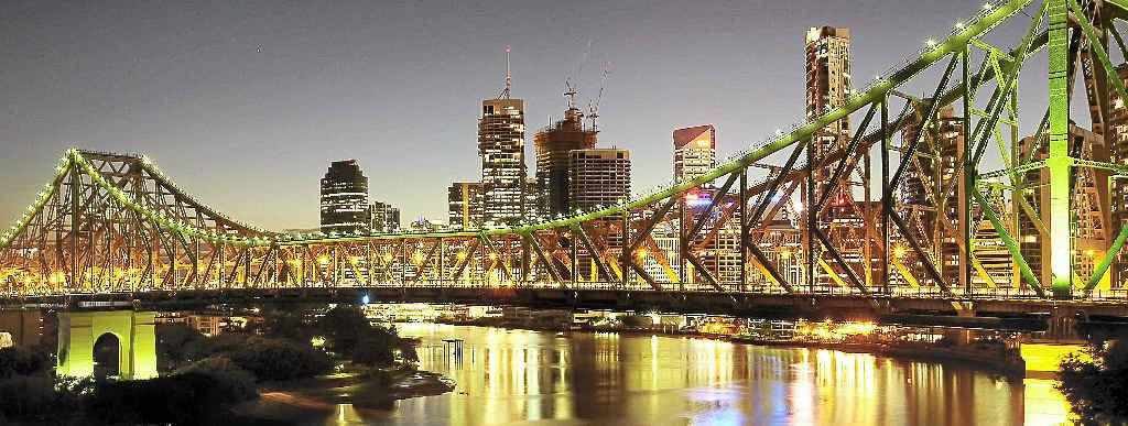 STUNNINGLY BEAUTIFUL: The Story Bridge and Brisbane city skyline take on a magical glow at night.