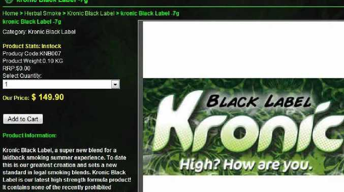 Police have warned that drugs such as Kronic and K2 which can be bought over the internet will land buyers in trouble.