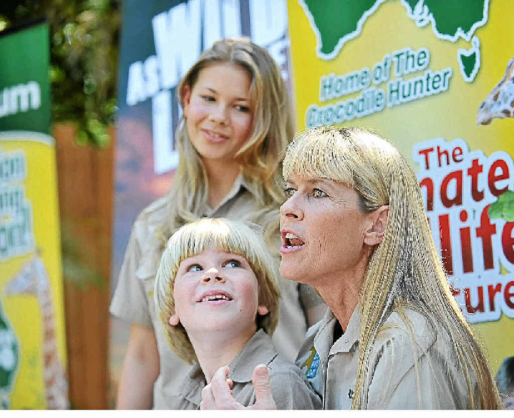 Terri, Robert and Bindi Irwin mark Steve Irwin Day at Australia Zoo.