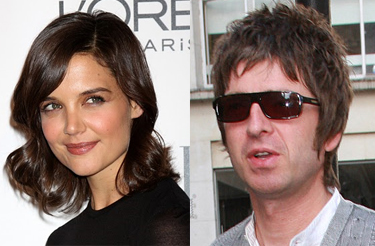 Apparently, Katie Holmes' people demanded Noel Gallagher's people hand over video footage of the pair meeting.