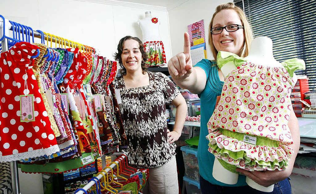 Baby fashion designers Brenda Eden and Amy Devantier are celebrating their business's first birthday.