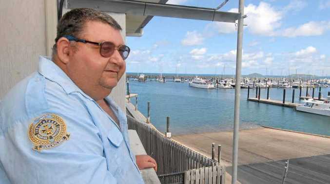 Nigel Lever loves being a volunteer at the Volunteer Marine Rescue radio room.