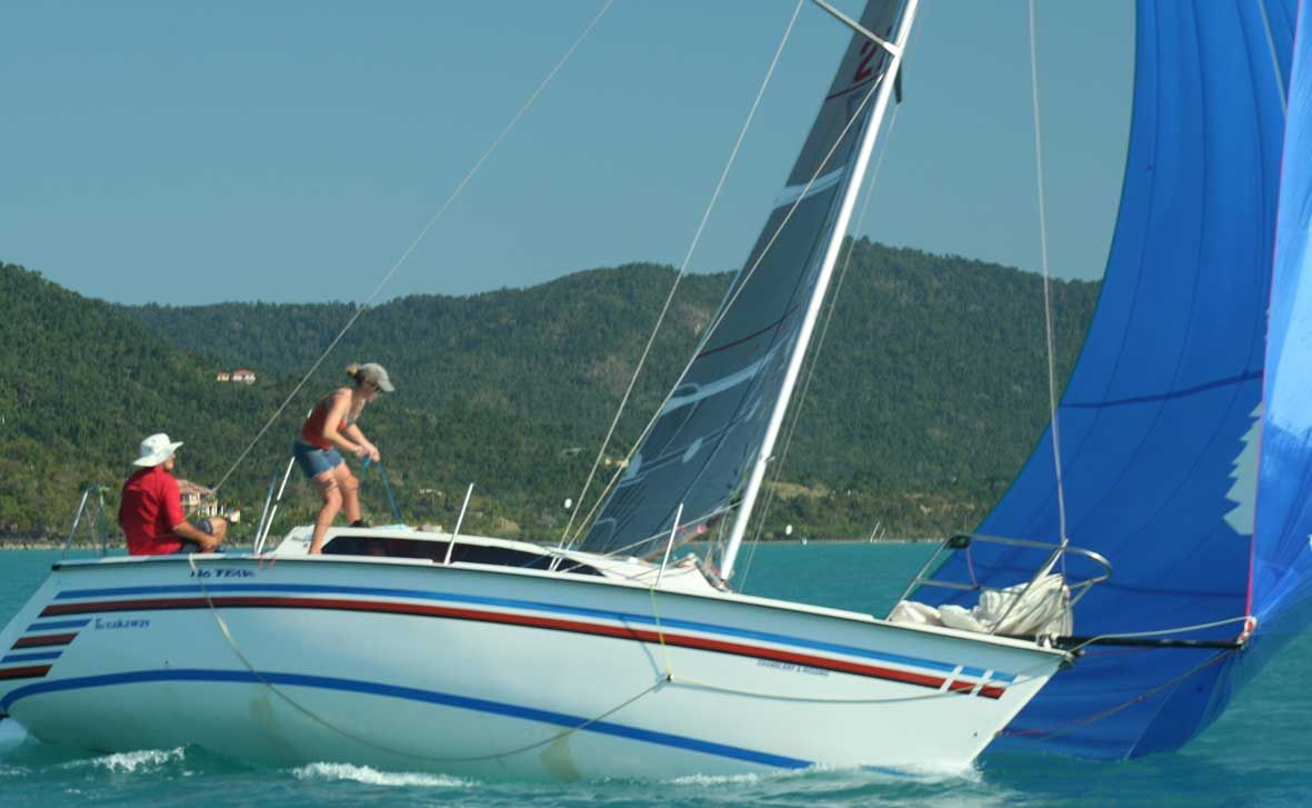 TWO HANDS: Whitsunday boat Breakaway took out second place overall in the Bowen two-handed series on the weekend. Photo Contributed