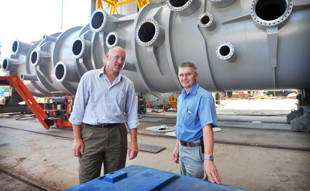 Craig Malt and Scott Goodfellow from WE Smith Engineering.
