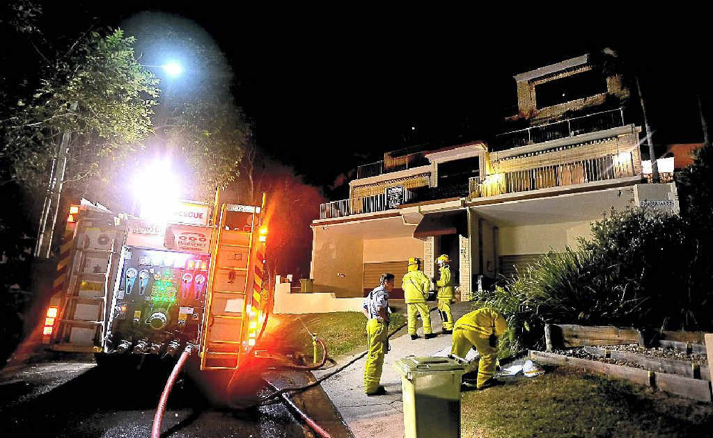 Police are investigating a unit fire in Dandaloo Dr, Currumbin.