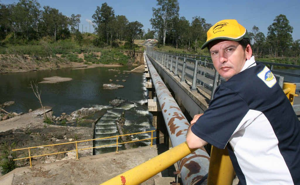 Wivenhoe-Somerset Fish Stocking Association life member Garry Fitzgerald is concerned about illegal fishing near the Mt Crosby/Allawah Road Weir.