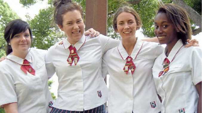 St Saviour's College's award recipients (from left) Madalyn Doherty, Daley Siggs, Bridget Cavanagh and Chered Herry.